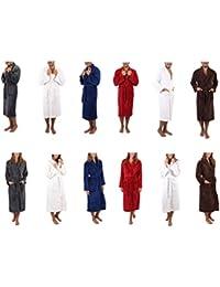 Betz Bathrobe Women and Men Microfiber Sizes S - XXL Size XXL navy blue 09eacd98b