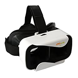 UVISTAR Universal 3D VR Virtual Reality Video Brille für iPhone 6s/6 plus, HTC One M, LG, Sony, Alle 4.6-6.0 Zoll Handys für 3D-Filme Gaming Weiß