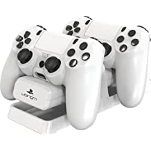Venom - Dual Charging Stand Con Battery Packs, Color Blanco (PlayStation 4)