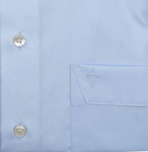 Marvelis - Chemise business - Uni - Col Boutonné - Manches Longues - Homme Bleu - Bleu clair