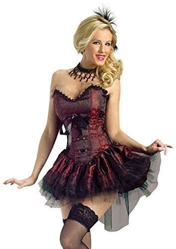 Preisvergleich Produktbild Für Damen: Sexy Girl, Burlesque, Saloon Bordell Wild West-Kostüm, Größe 38-40