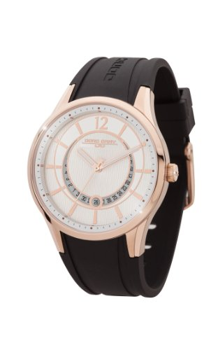 Jorg Gray Women's Quartz Watch with White Dial Analogue Display and Black Rubber Strap JG1400-13
