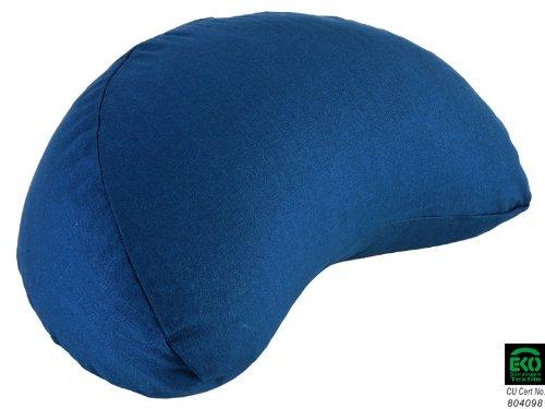 Coussin de méditation Fuzen 100% coton Bio (demi-lune) - Bleu