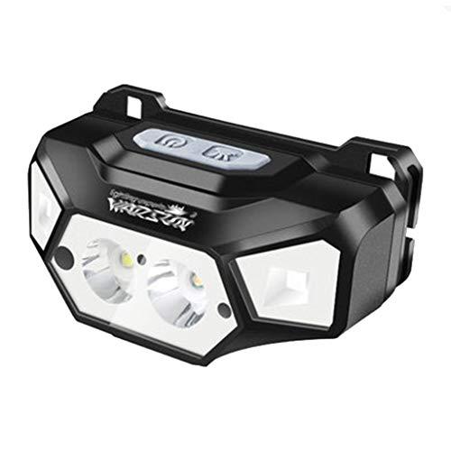 Lampade da testa fari luci da campeggio a led luci sportive all'aperto luci da pesca notturne lampada da miniera mini fari (color : black, size : 4 * 6 * 3cm)