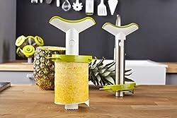 Tomorrow's Kitchen (bislang Vacu Vin) 4872260 Ananasschneider Deluxe Geschenkpackung -das original, weiß/grün