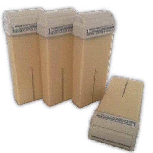 4 Wachspatronen Bianco 100 ml Nachfüller für Wachsstationen zur Haarentfernung Enthaarung