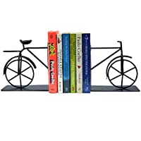 Whats Your Kick Decorative Metal Antique Cycle Book end/Non Skid Material bookend/Books stoper for Home & Office Shelves…