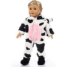 ZITA ELEMENT American 18 Inch Girl Boy Doll Animal Design Ropa | 1 Mono con patrón