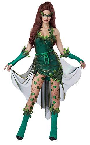 Frauen Grüne Fee Dryad Lethal Schönheit Kostüm Kleid Halloween Cosplay Thanksgiving Party Kostüme