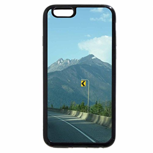 iPhone 6S Case, iPhone 6 Case (Black & White) - A Good Day at the Rockies BC - Canada07