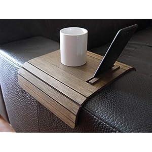 Holz sofa armlehnentisch mit iphone und ebook reader stehen in vielen farben wie wenge Armlehnentablett Moderner tisch…