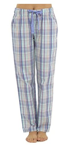 womens/ladies plaid check cotton pyjama bottoms/lounge pants - 41AUkL o5CL - Womens/Ladies Plaid Check Cotton Pyjama Bottoms/Lounge Pants