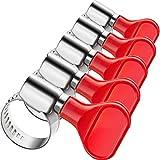Ranoff Drainage-Rohr Wasserhahnklemme, Feste Klemme, Schlauchschlauch, aufblasbar, 15 Stück One Size rot