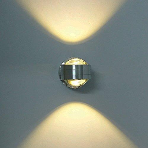 Lightess Moderne 6W LED Wandleuchte Innen Aluminium kreative moderne minimalistische Kulisse LED Wandlampe Nachtwandlampe Schlafzimmerlampe Wohnzimmer Flur Flurlampe, warmes Weiß - Tür-design Led-tastatur