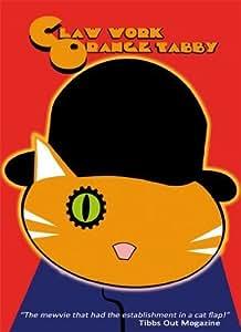 Funny Cat Greeting Card - Claw Work Orange Tabby