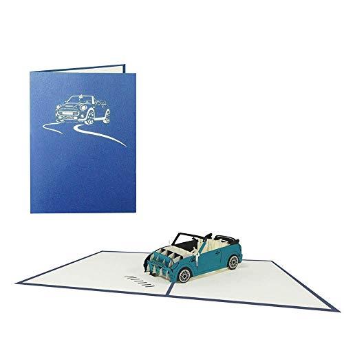 Karte Auto Cabrio Geburtstagskarte Fahrzeug Glückwunschkarte Geschenkkarte Gutschein Führerschein Glückwunsch - 3D Pop Up Auto 1