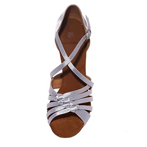 L@YC Scarpe Da Ballo In Raso Femminile In Latino / Sandali In Pelle artificiale In Pelle Cuba Con (Colore) Brown