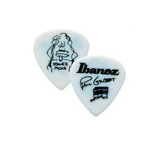 Plettro Paul Gilbert Ibanez 1000PG-WH-1,00 mm, colore: bianco