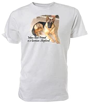 German Shepherd T shirt, Mans Best Friend, White size XX Large