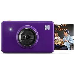 Kodak Mini Shot - Appareil Photo Numérique et Imprimante sans Fil, 5 x 7,6 cm, Technologie d'Impression Brevetée 4Pass, Violet