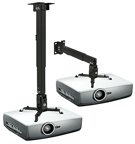 Mount-It Wall or Ceiling Projector Mount with Universal LCD DLP Mounting for Epson Optoma Benq ViewSonic Projectors 44lb Load Capacity Black MI-604  available at amazon for Rs.7649