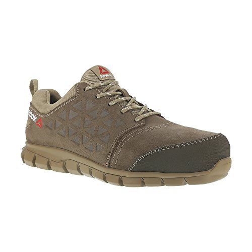Reebok-Work-ib1033-S1P-42-Excel-luz-Athletic-zapatillas-de-seguridad-zapatos-aluminio-Toe-Piel-de-ante-superior-tamao-42-color-gris