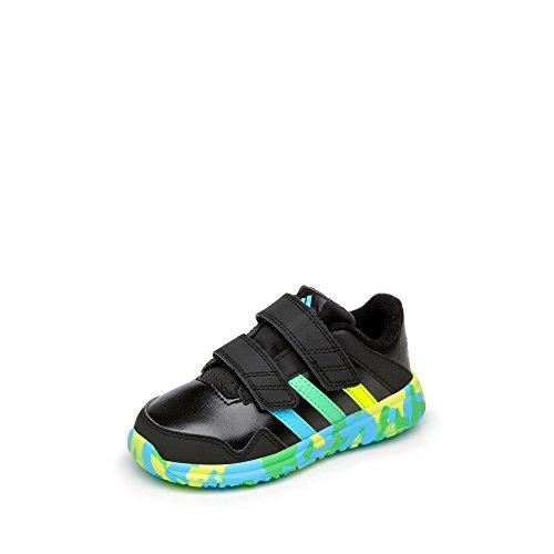 adidas Unisex Baby Snice 4 Cf I, Negro/Verde/Azul/Amarillo, 21 EU (Kd Baby Schuhe)