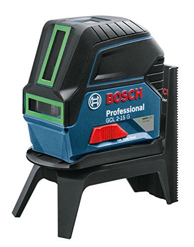 Preisvergleich Produktbild Bosch Professional Kombilaser GCL 2-15 G (3x 1,5 V Batterien, grüner Laser, Halterung, Zieltafel, Schutztasche, L-BOXX, Arbeitsbereich: 15 m)