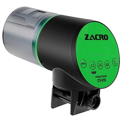 Zacro Aquarium Distributeur Automatique de Nourriture pour Poissons 200ml capacité,Chargement USB
