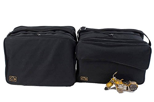 made4bikers: Borse interne per valigie moto adatte per modelli BMW R1200GS R1200 GS al 2013 (Vario) - tasca esterna separata