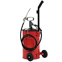 yorten Hand-Operated Grease Pump 25 L With Carrying Handle and Bottom Stand Mechanises Lubrication