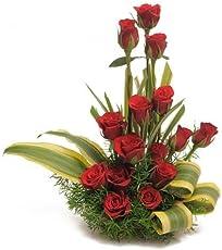 Floral Fantasy Fresh Flowers Bouquet of Red Rose Arrangement for Birthday Anniversary Friendship day Best Wishes - FFAR0018