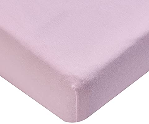 Junior Joy Cot Bed Cotton Fitted Sheet (Pack of 2, Pink)