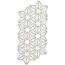 Ruda - Plantilla de troquelado con diseño geométrico de flores para álbumes de recortes, tarjeta