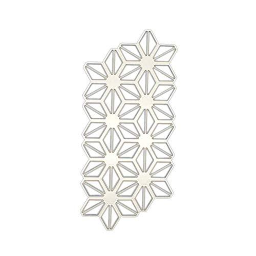 Ruda Stanzschablone Geometrische Blumen Scrapbooking Prägung Papier Karte Deko Geschenk für Party Geburtstag Spiel Basteln Klasse Briefeinladung