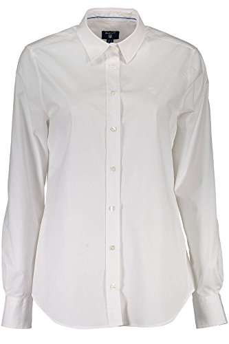 GANT Damen Bluse Stretch Oxford Kurzarm Weiss (10) 36