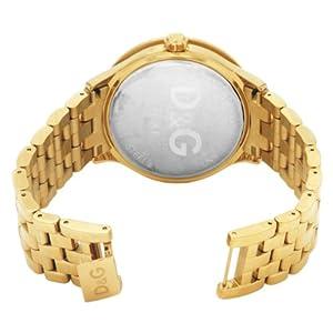 Dolce & Gabbana Time Big IPG Gold DIAL with Red Logo BRC DW0377 – Reloj de Mujer de Cuarzo, Correa de Acero Inoxidable Color Oro