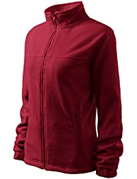 Chaqueta Fleece para mujeres outdoor casual - OwnDesigner by Adler (Rojo - Tamaño: XL)