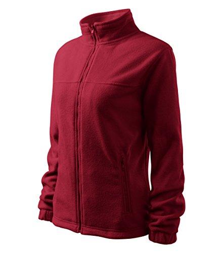 Damen elegante Fleecejacke Outdoor Pullover Fleece (Rot, XL)