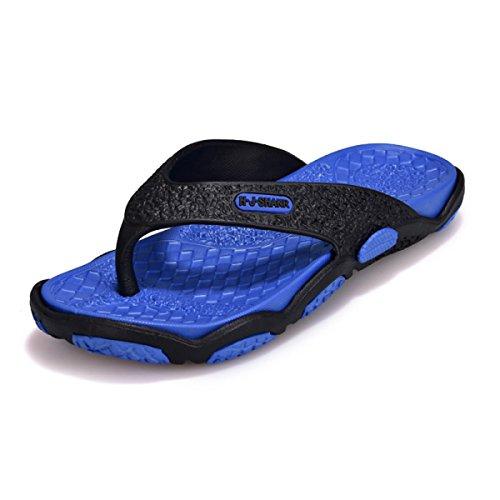 LXXAMens Estate Mules Spiaggia Peso Leggero Flip Flops black+blue