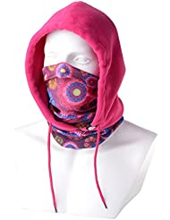Pasamontañas Gorra Calentador Polar Lana 4 en 1 Multifuncional Máscara Rostro Exteriores M-SP011- Rosa Girasol