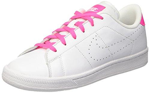 Nike Mädchen Tennis Classic PRM (Gs) Gymnastikschuhe, Bianco White-pink Blast, 38.5 - Classic Tennis Nike