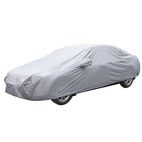 Abdeckplane Auto PKW Autoabdeckung Faltgarage Auto Hülle Schutzhülle Autoschutzdecke Autohaube Tragetasche 189.76*68.69*47.24 Inches (#BY FBA 482 x 177 x 120 cm)