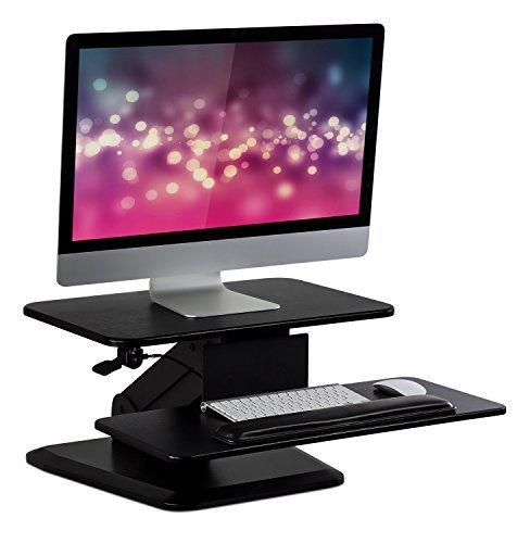 Workstation Stehpult Konverter mit Dual Monitor Halterung Combo, ergonomische Höhe Verstellbarer Tisch Schreibtisch, schwarz (mi-7914) Stand ()
