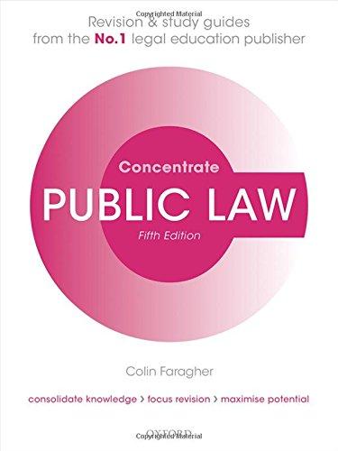 Public Law Concentrate: Law Revision and Study Guide por Colin Faragher