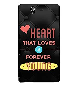 Fuson Designer Back Case Cover for Sony Xperia Z :: Sony Xperia ZC6603 :: Sony Xperia Z L36h C6602 :: Sony Xperia Z LTE, Sony Xperia Z HSPA+ (Heart that loves theme)