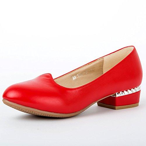 DGSA Rindfleisch sehne, Verschleiß gering Tanzschuhe weiblichen Leder Licht port Schuh Rot