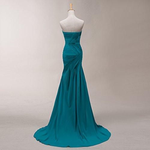 Bridal_Mall - Robe - Trapèze - Sans Manche - Femme Marron - Marron