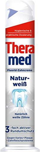 Theramed Zahncreme Spender Naturweiß, 5er Pack (5 x 100 ml) -