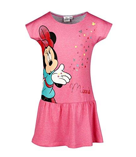 (Disney Minnie Mädchen Kleid - pink - 116)